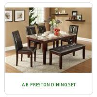 A B PRESTON DINING SET